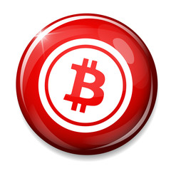Bitcoin sign icon.