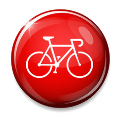 Bicycle sign icon.