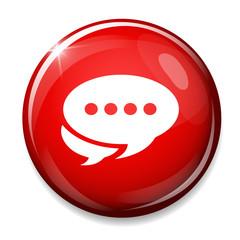 Chat icon. Speech bubbles button. Communication chat bubbles.