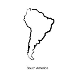south americamap icon for your design