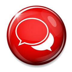 Chat sign icon. Speech bubbles symbol. Communication concept.