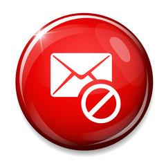 Mail delete icon. Envelope symbol.