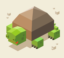Turtle. 3D Pixelate