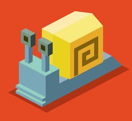 Snail. 3D Pixelate