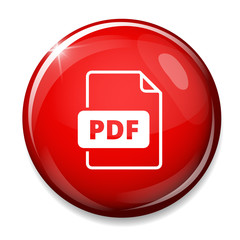 PDF file document icon. Download pdf button. PDF file symbol.