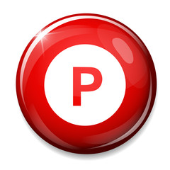 parking sign icon. Car parking symbol.