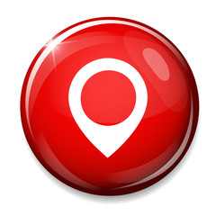 Map pointer icon. GPS location symbol