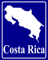 silhouette map of Costa Rica