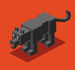 Black Panther in 3D Pixelate