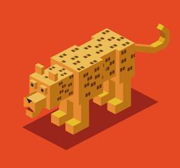 Leopard 3D Pixelate