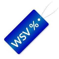 WSV Preisschild Blau