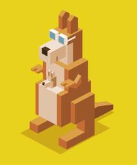 Kangaroo 3D Pixelate