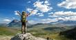 Leinwanddruck Bild - Hiker feels free!