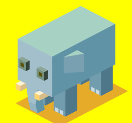 Elephant 3D Pixelate