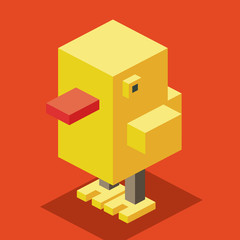Yellow Duck 3D Pixelate
