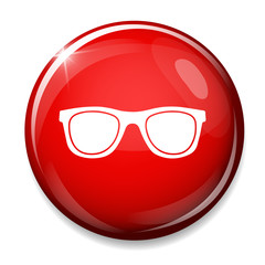 sunglasses sign icon. glasses button.