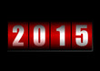 2015 new year vector illustration with counter