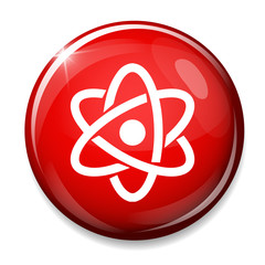 Atom icon. Atom symbol.