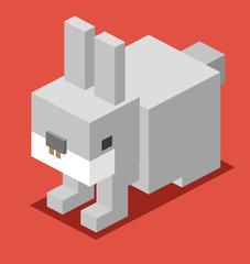 3D Pixelate Bunny