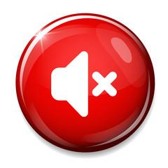Mute speaker icon. Media Sound Button.