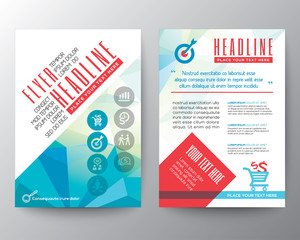 Abstract Typography polygon Brochure Flyer design Layout vector