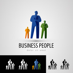 business vector logo design template. people or staff icon.