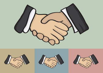 Business Handshake Vector Illustration