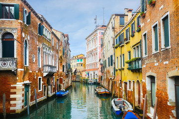 Typical water canal in Venice