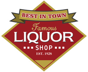 liquor shop label
