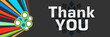Thank You Colorful Dark Background