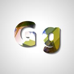 Colorful letter alphabet