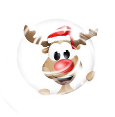 Happy Reindeer Christmas Design
