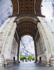The striking angle Arc de Triomphe