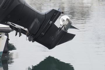 boat engine close-up