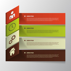Vector Paper Progress. Infographic Template.