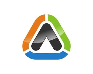 triangle logo template v.6