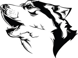 head howling dog
