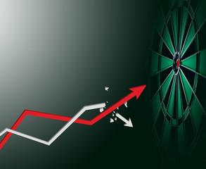 Arrow grow up to business target