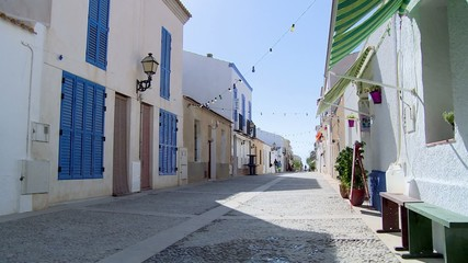 Calm and solitary street of coast village in the Mediterranean