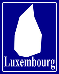 silhouette map of Luxembourg