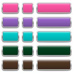 SET of metallic buttons – 3 Variants (II)