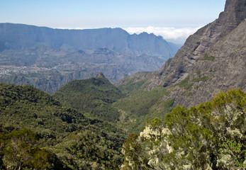 Berge auf der Insel Reunion