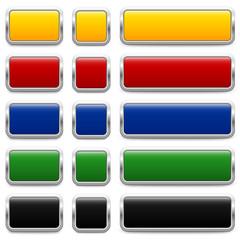 SET of metallic buttons – 3 Variants (III)