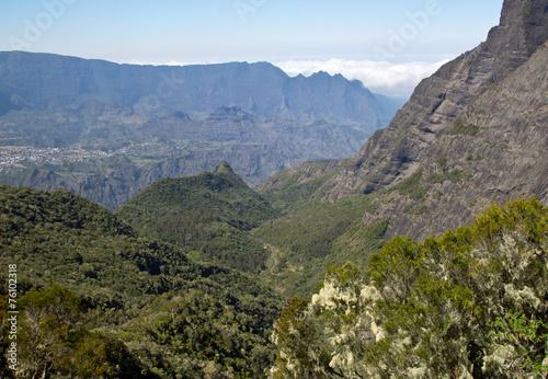 canvas print picture Berge auf der Insel Reunion