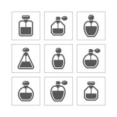 Perfume icons set.