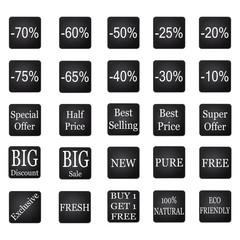 Black sale badges