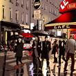 Street in Paris at night