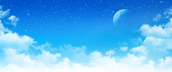 imaginary panoramic cloudscape
