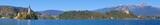 Panorama des Veldes Sees / Slowenien