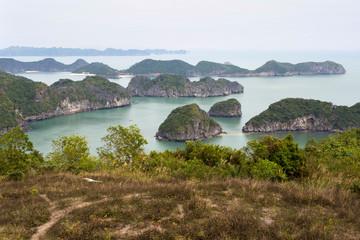 Halong Bay Seen from Cat Ba Island, Vietnam